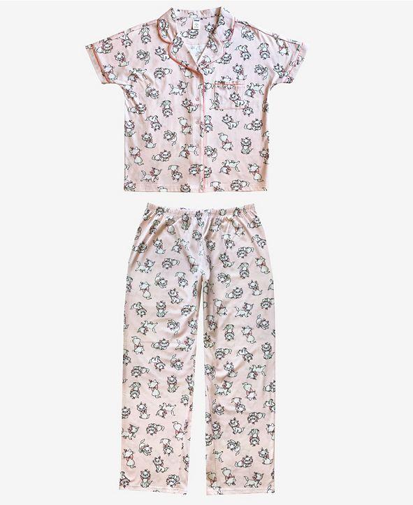 Disney Marie Notched Collar Women's Pajama 2 Piece Set
