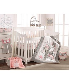 Baby Night Owl Crib Bedding Set of 5
