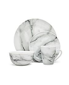 Marble Design 16 Piece Dinnerware Set, Service for 4