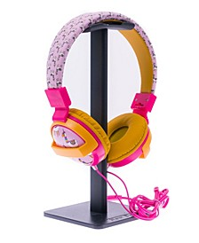 SafeSounds - Kids Pink Llama Printed Volume-Limiting Wired Headphones