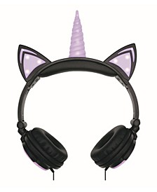 Unicorn Led Light-Up Wired Headphones
