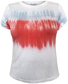 Love, Fire Juniors' Tie-Dyed T-Shirt