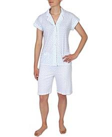 Printed Bermuda Shorts Pajama Set