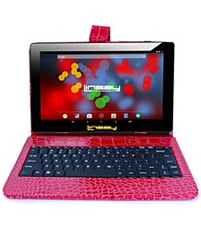 "10.1"" 1280x800 IPS Screen Quad Core 2GB RAM Tablet 32GB Android 10 with Red Crocodile Style Keyboard"