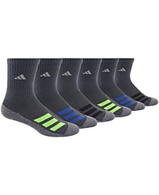 Big Boys Cushioned Angle Stripe Crew Sock Pack of 6