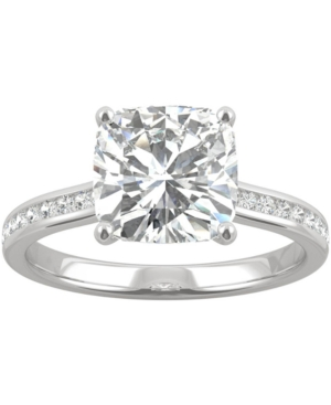 Moissanite Cushion Engagement Ring (2-5/8 ct. t.w. Dew) in 14k White Gold