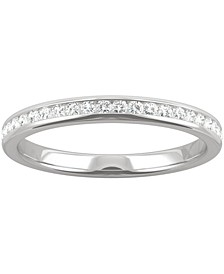 Moissanite Wedding Band (1/5 ct. t.w. DEW) in 14k White Gold