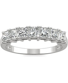 Moissanite Princess-Cut Band (2-7/8 ct. t.w. DEW) in 14k White Gold