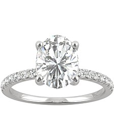 Moissanite Oval-Cut Engagement Ring (2-1/3 ct. t.w. DEW) in 14k White Gold