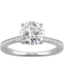 Moissanite Engagement Ring (1-5/8 ct. t.w. DEW) in 14k White Gold