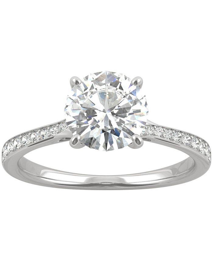 Charles & Colvard - Moissanite Engagement Ring (1-5/8 ct. t.w. DEW) in 14k White Gold