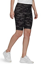 Women's Fitted Logo-Print Cycling Shorts