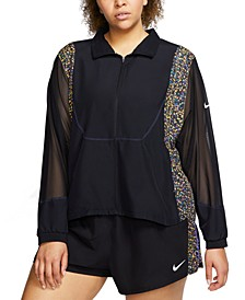 Plus Size Icon Clash Running Jacket