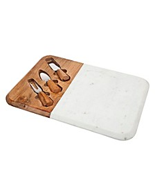 Wood & Marble Rectangle Cheese Board