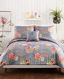 Alessia Floral 4-Piece King Comforter Set
