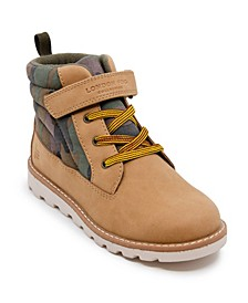 Toddler Boys Camo Work Boot with Strap