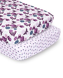 PSP Sheets Purple Butterfly/Purple Ditsy Floral, 2-Pack