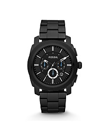 Machine Chronograph Black Stainless Steel Watch 45mm