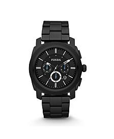 Machine Chronograph Black Stainless Steel Watch 45mm