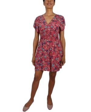 Be Bop Juniors' Floral Fit & Flare Dress