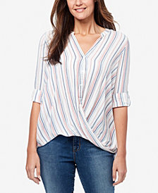 Nine West Women's Alana Coney Stripe Top