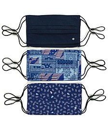 Unisex Pleated Face Mask Americana 6-Pack
