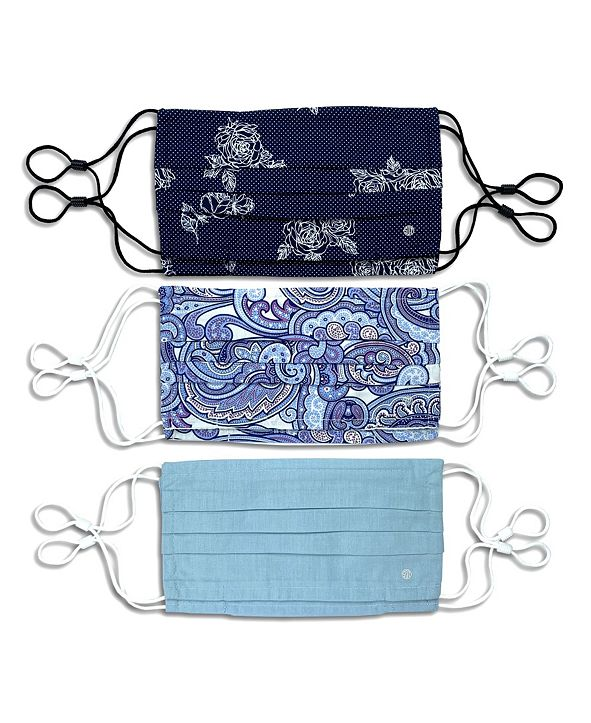 Society of Threads Unisex Pleated Face Mask Paisley 6-Pack