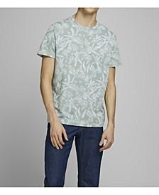 Men's Organic All Over Printed Crew Neck Tee Shirt