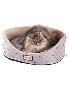 Pet Dog and Cat Bed Round Oval Cuddle Nest Lounger