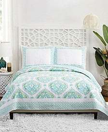 Bohemian Breeze 3-Piece King Quilt Set