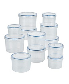 Easy Essentials 24-Pc. Twist Food Storage Containers