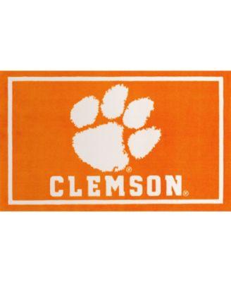 """Clemson Colcl Orange 1'8"""" x 2'6"""" Area Rug"""