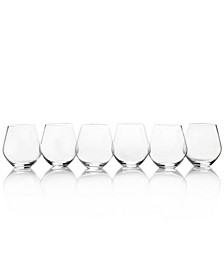 Gianna Stemless Wine Glasses, Set of 6