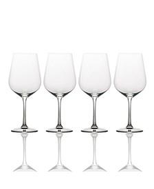Gianna Ombre Smoke White Wine Glasses, Set of 4