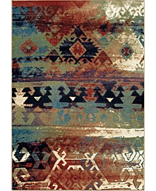"Jackson Square Elk River Multi/ Red 5'3"" x 7'6"" Area Rug"