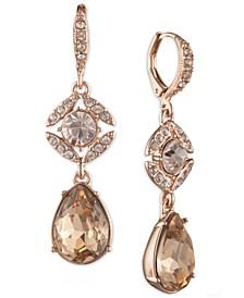 Crystal Double Drop Earrings