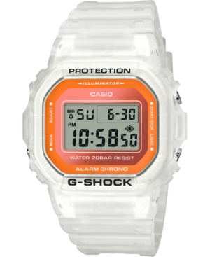 Men's Digital Frosted White Resin Strap Watch 42.8mm