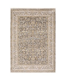 "Kumar Kum02 Beige and Gray 6'7"" x 9'6"" Area Rug"