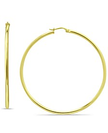 Polished Hoop Earrings in 18k Gold-Plated Sterling Silver, Created for Macy's
