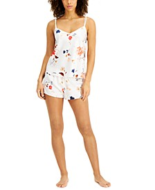 INC Satin Cami & Shorts Pajama Set, Created for Macy's