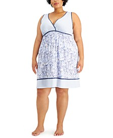 Plus Size Printed Chemise Nightgown, Created for Macy's