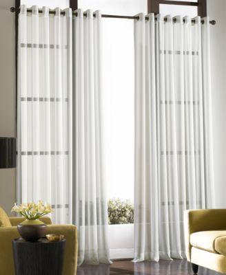 "chf sheer soho voile grommet 59"" x 95"" panel sheer curtains macyu0027smain image"