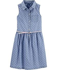 Little Girls Chambray Shirt Dress