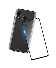 Protection Pack Tough Clear Case Plus Glass Screen Protector for Samsung Galaxy A20