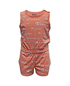 Little Girls Aop Romper