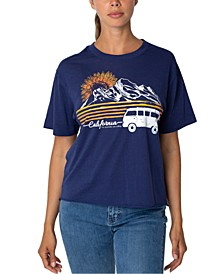 Juniors' California Cropped Graphic T-Shirt