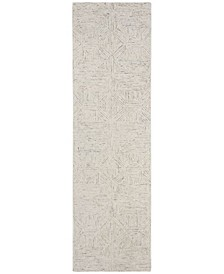 "Abstract 763 Mist 2'3"" x 8' Runner Area Rug"