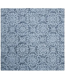 Abstract 207 Blue 6' x 6' Square Area Rug