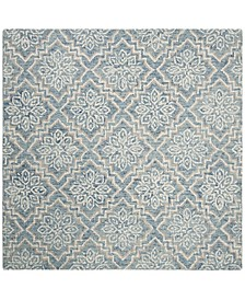 Abstract 201 Blue and Gray 6' x 6' Square Area Rug