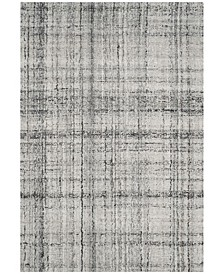 Abstract 141 Gray and Black 4' x 6' Area Rug